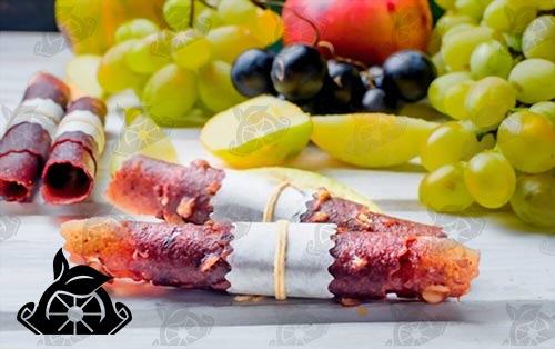 فروش لواشک میوه ای پالپ دار از کارخانه